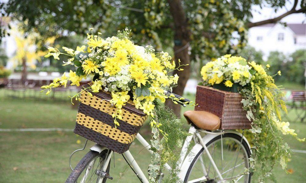 Велосипед кашпо с цветами 32