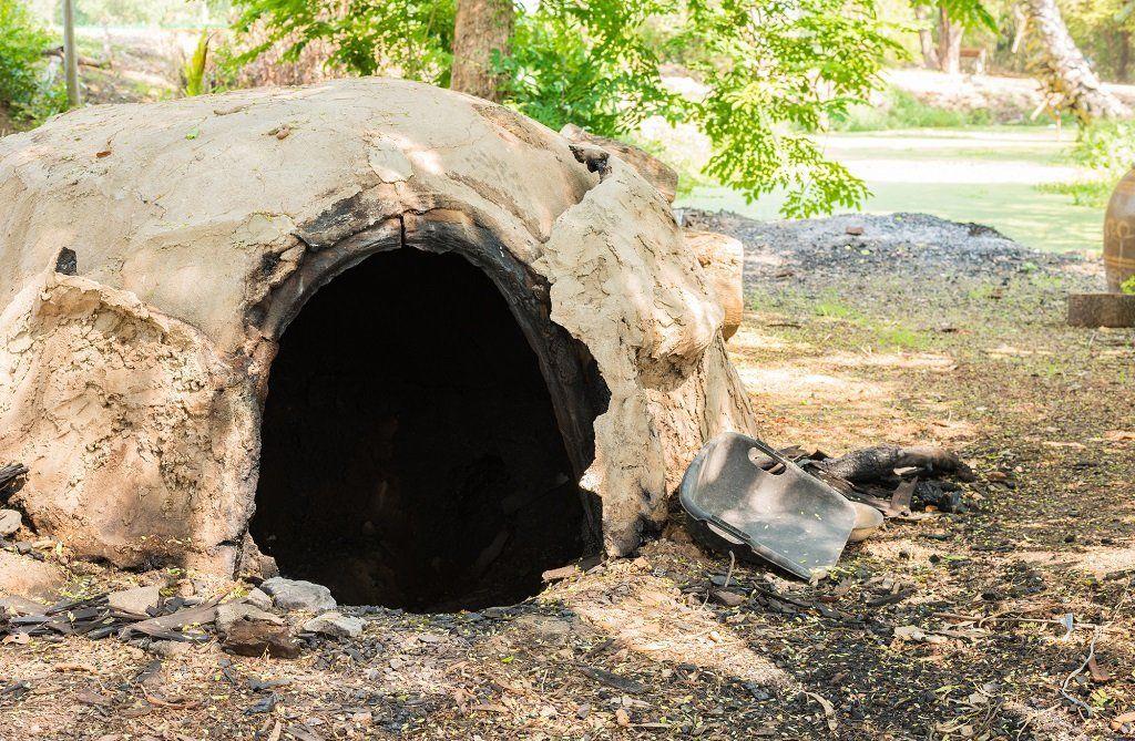 Каменная печь для мусора