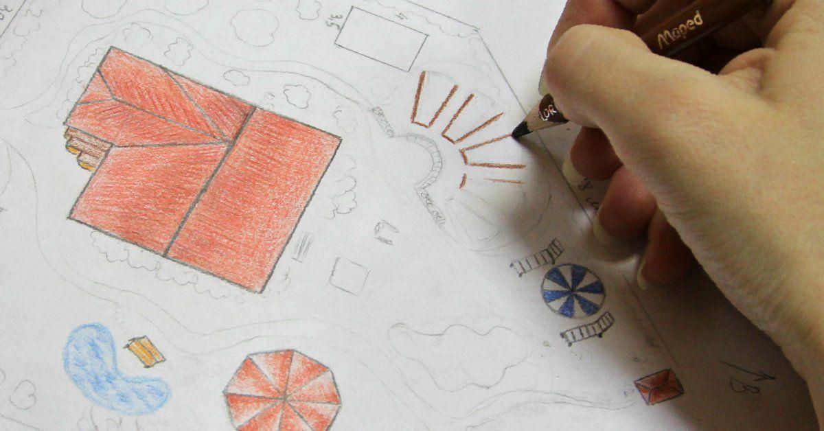 """Проект """"Дизайн участка"""": составляем план на бумаге"""