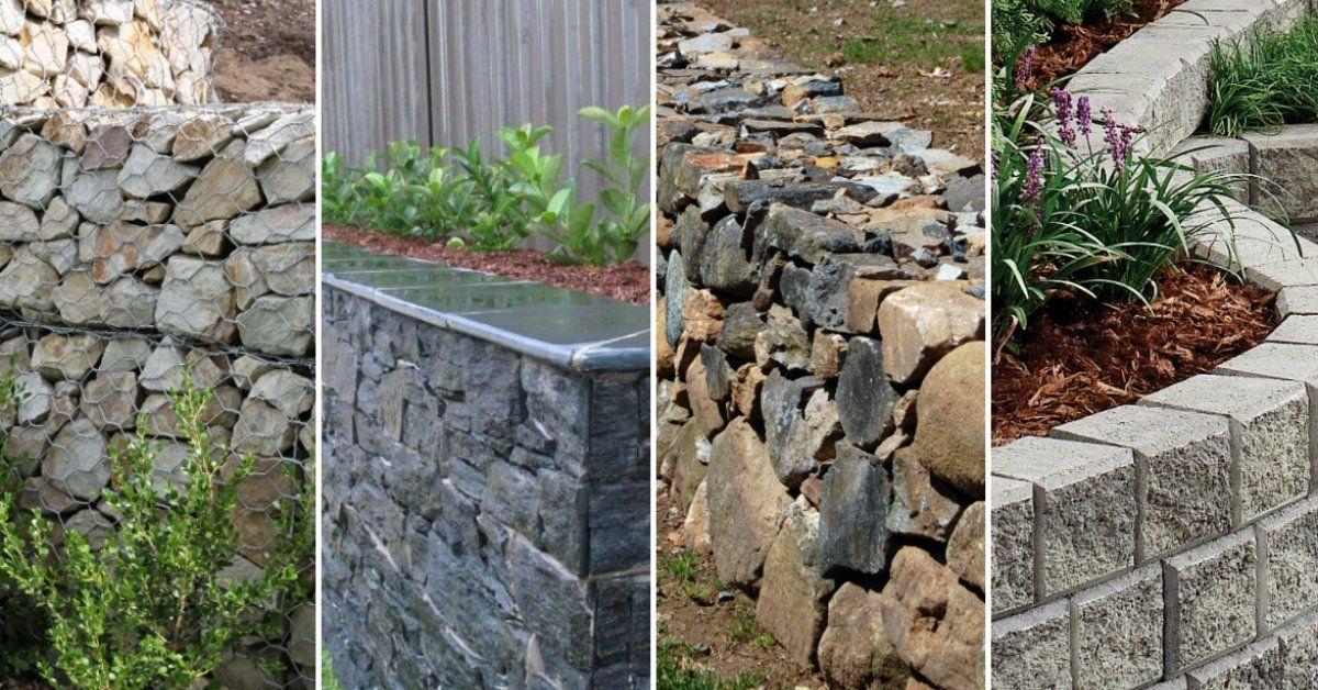 Подпорная стенка на участке из бетона
