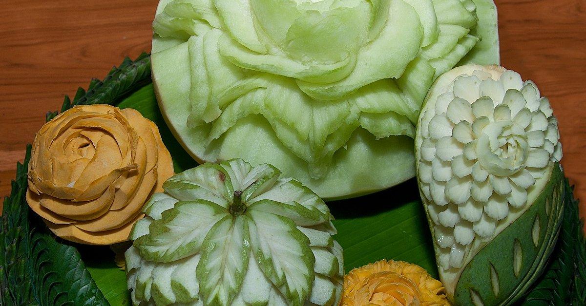 Вырезание из овощей и фруктов своими руками