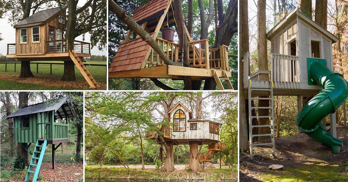 Каркас домика на дереве