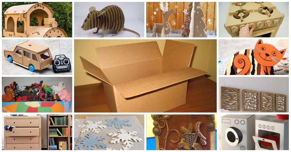 Стена из картонных коробок