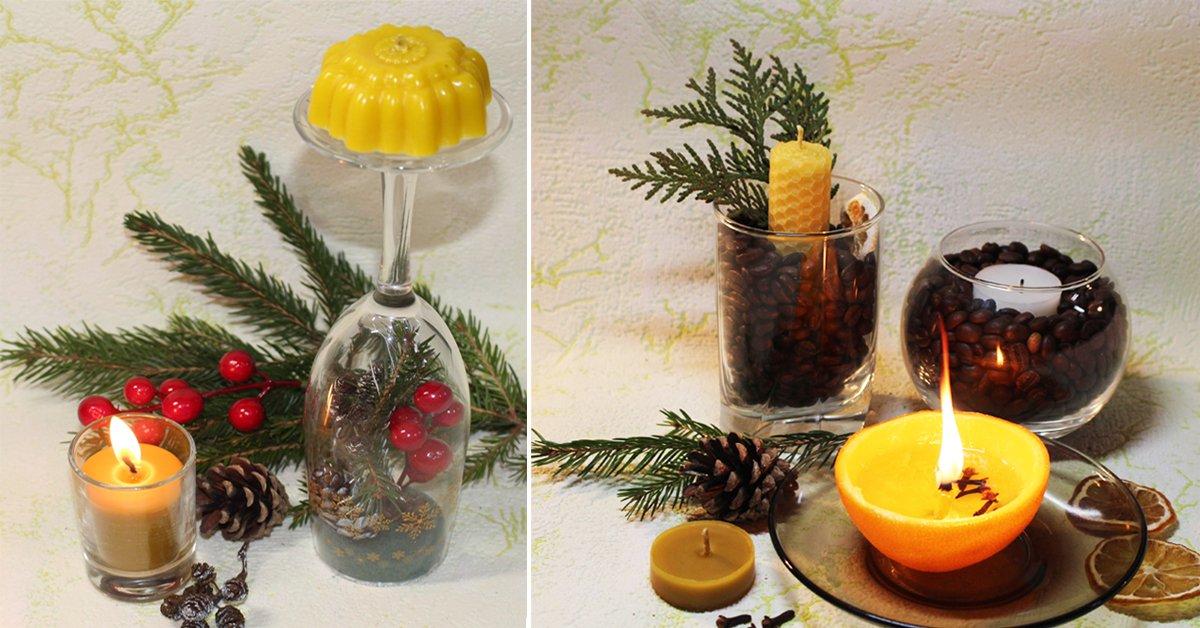 Как сделать ароматические свечи своими руками