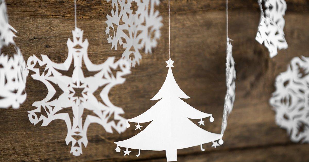 Снежинка снеговик из бумаги