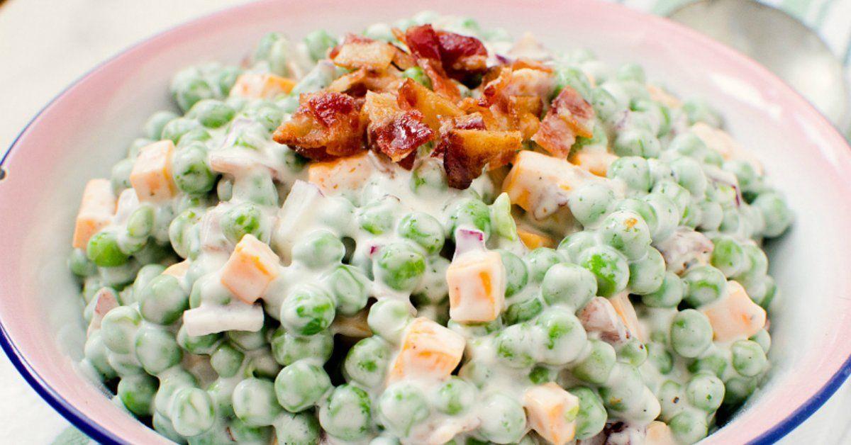 Салаты с зеленым горошком простые рецепты