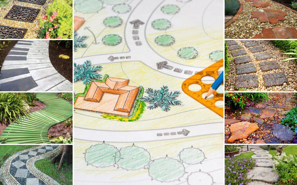 Как сделать садовые дорожки и из чего