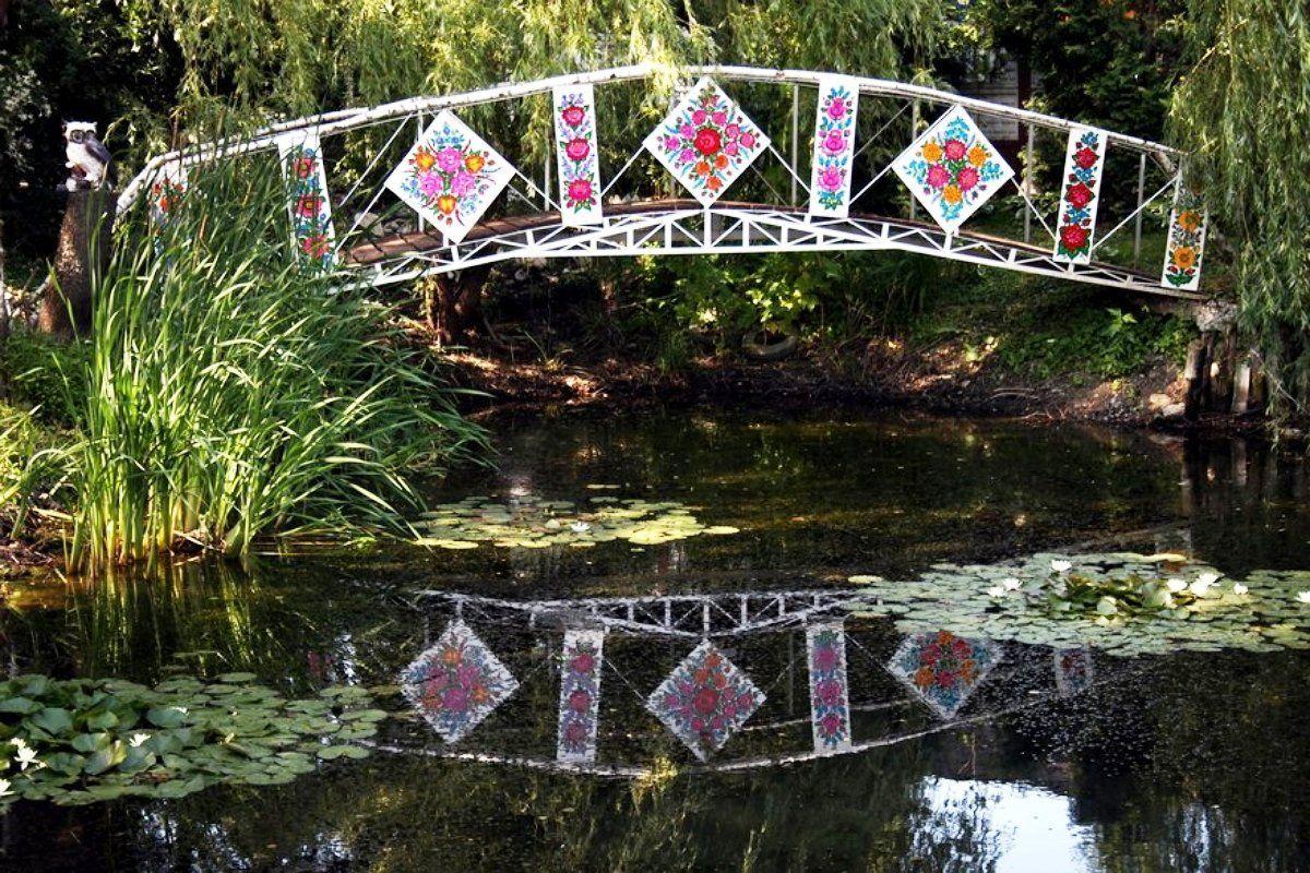 Расписной мост, Залипье, роспись, интерьер стена, роспись стен, роспись картинки