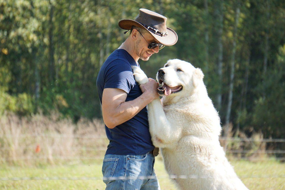 Андрей Абрамов с собакой