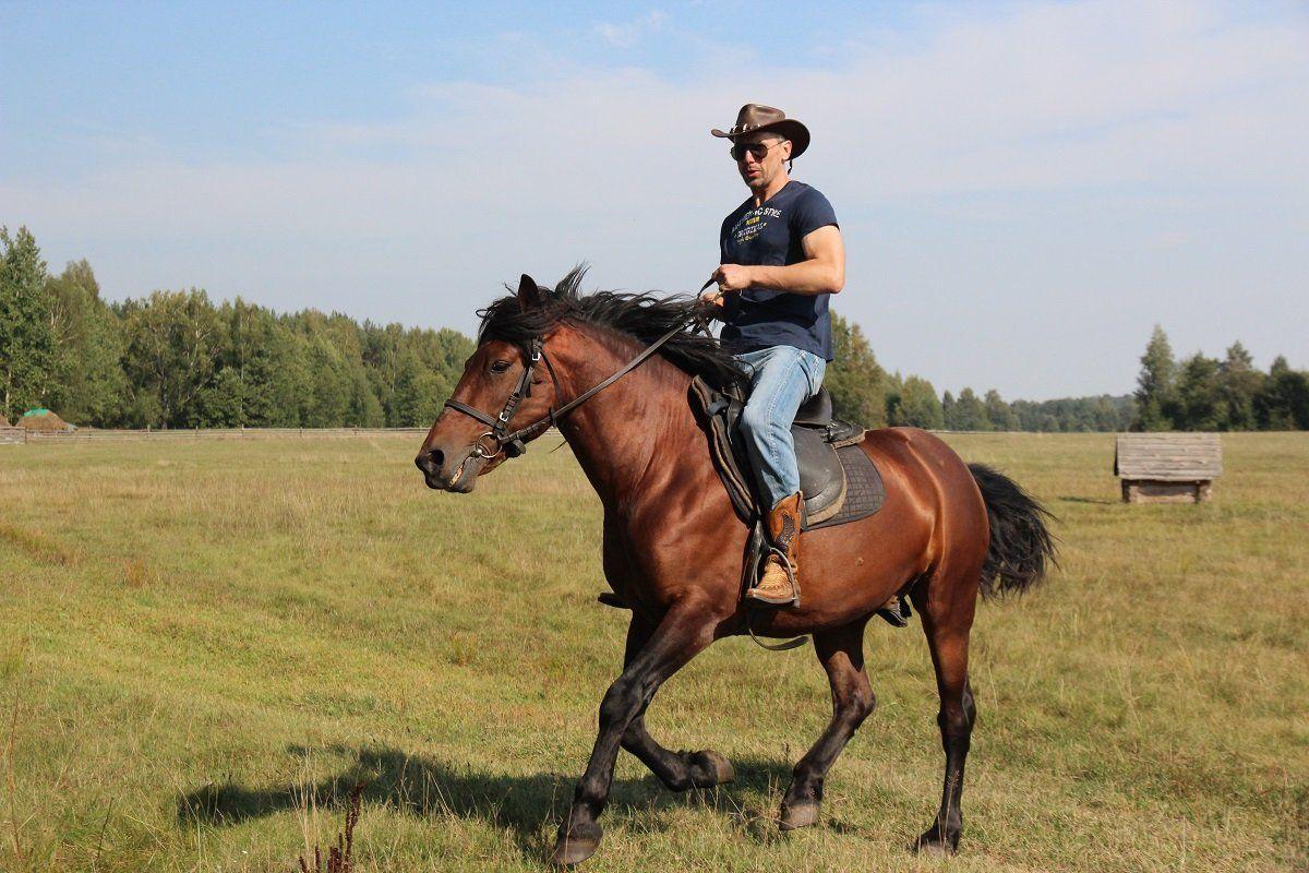 Андрей Абрамов на лошади