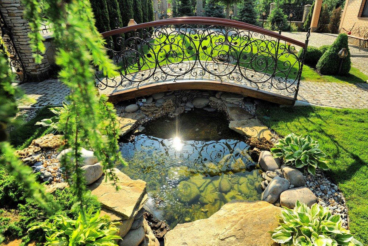 оранжереи с ручьем мостиком и фонтаном фото серьёзно этому поводу