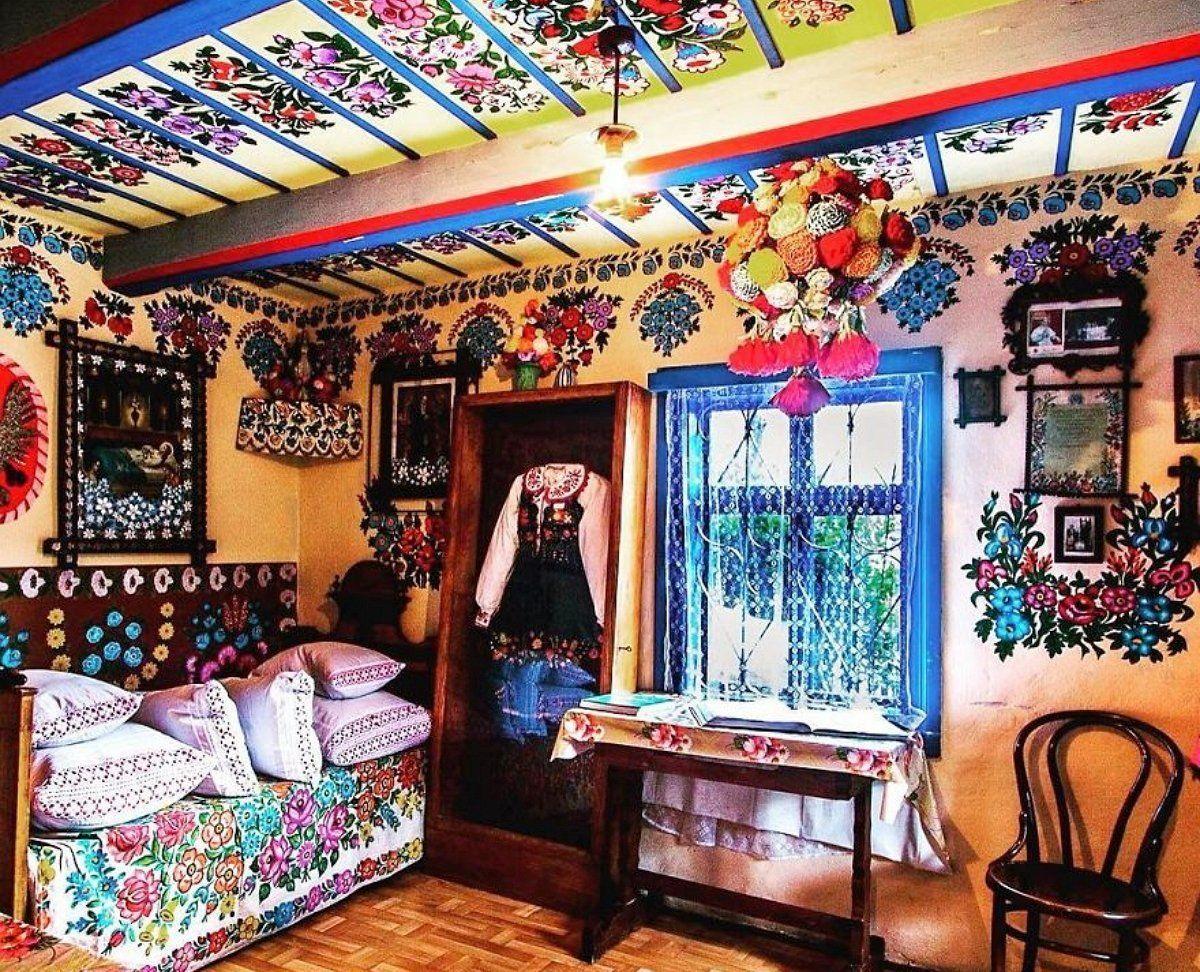 Музей Фелиции Цурилова, Залипье, роспись, интерьер стена, роспись стен, роспись картинки