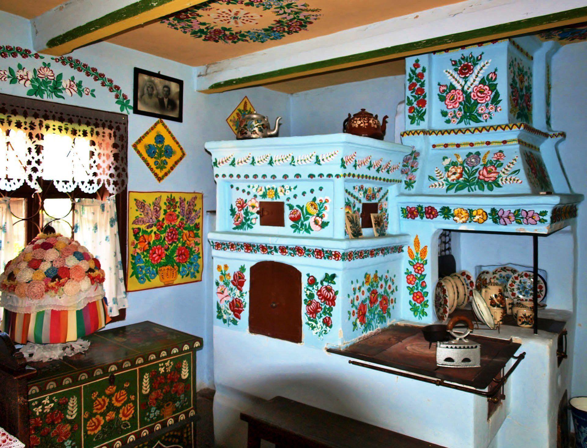 Печь в музее, Залипье, роспись, интерьер стена, роспись стен, роспись картинки