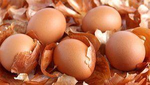 Яйца и луковая шелуха