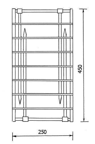 Рис. 4 Решетка в сложенном виде