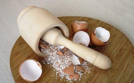 Как измельчить яичную скорлупу