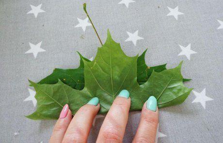 Роза из листьев пошагово 9