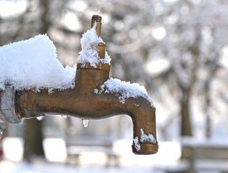 водопровод зимой