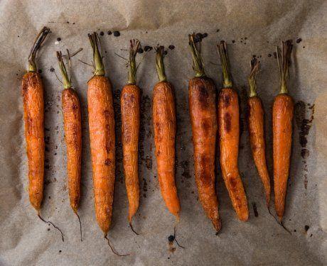 запеченные овощи, морковь