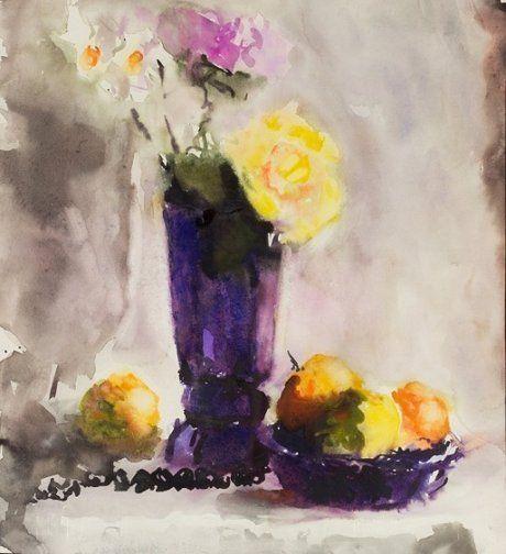 Натюрморт с желтой розой. В. Л. Яснопольская