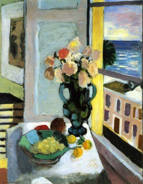 Кустовые розы напротив окна. А. Матисс