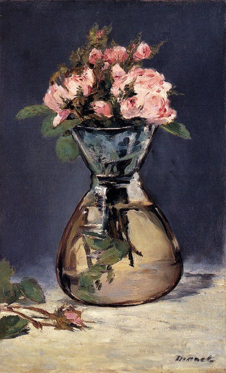 Розы в вазе. Э. Мане