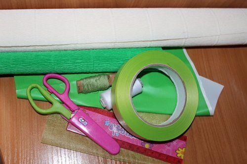 материалы для изготовления корзинки с подснежниками из бумаги