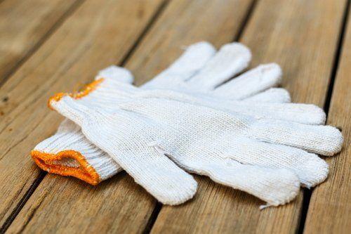 Тканевые перчатки