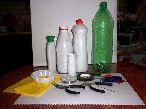 материалы для изготовления ромашек из бутылок
