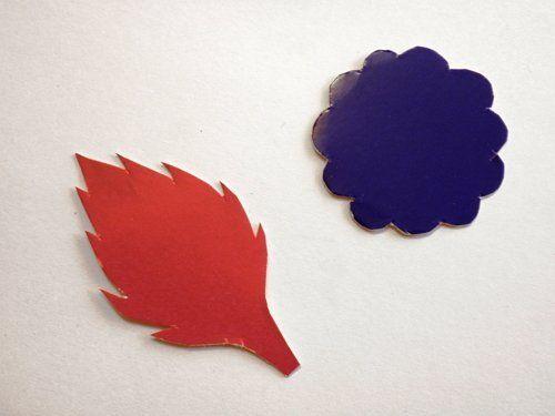 лепестки для цветов из картона