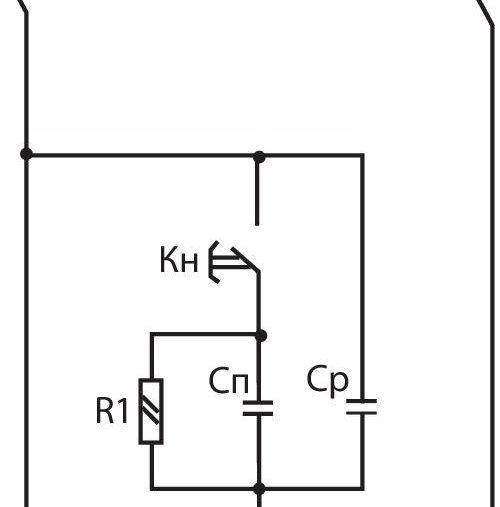 Рис. 5 Схема подключения электродвигателя