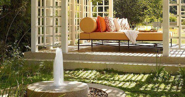 Садовый фонтан неотъемлемая часть ландшафтного дизайна дачного участка