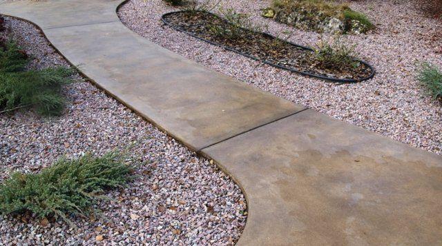 Дорожка из монолитного бетона