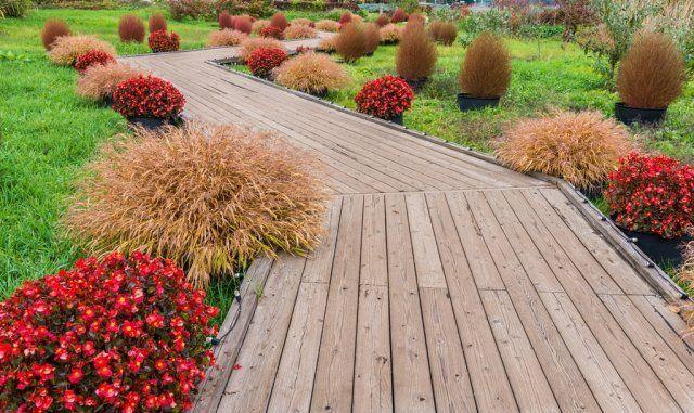 садовая дорожка из досок