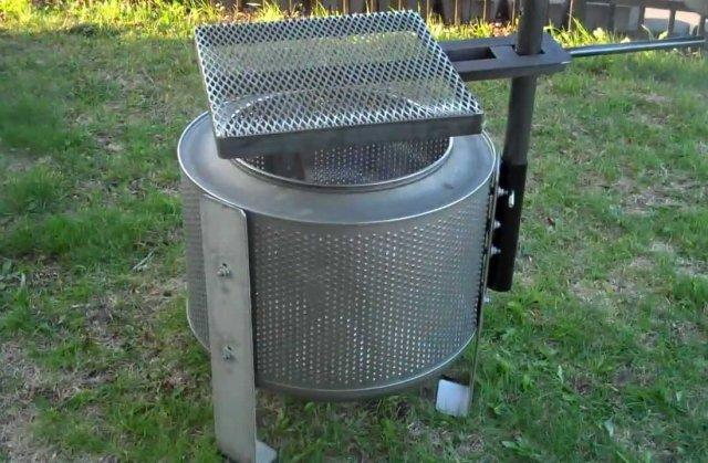 Мангал из барабана стиральной машины