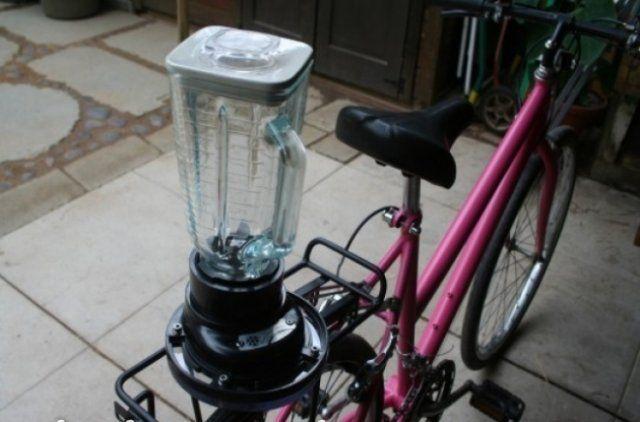 Кофемолка на велосипеде