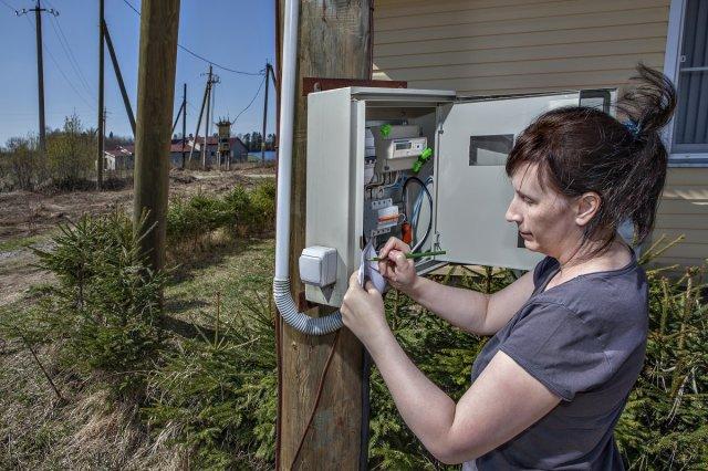 Счетчик электричества на улице
