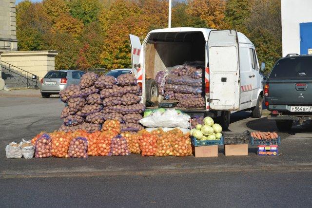 Уличная торговля овощами