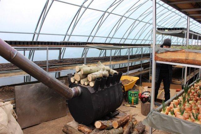 отопление теплицы печкой булерьян