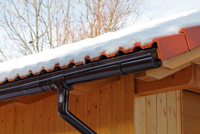 Крыша зимой