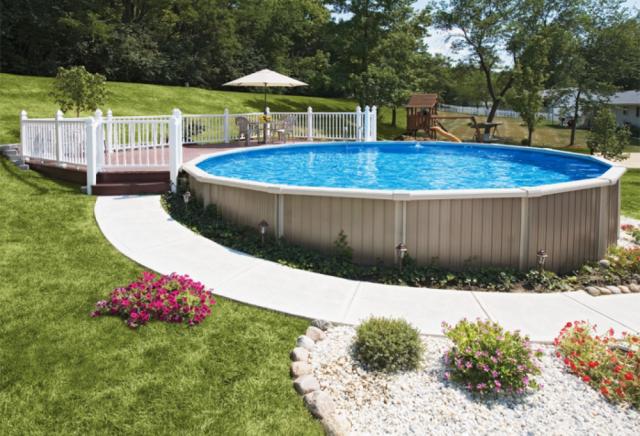 Какой бассейн установить на даче Дизайн участка Огород Ru