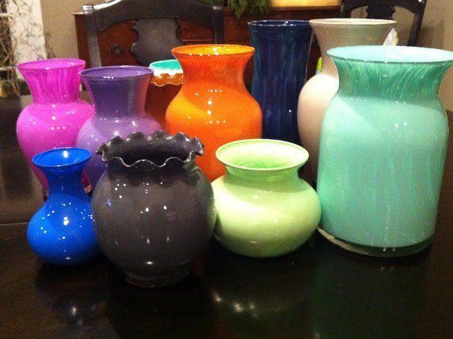 Вот такие разные и непохожие друг на друга вазы получились у нас