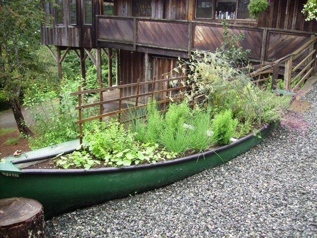 Грядка в лодке