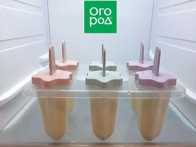 Форма с мороженым в морозильной камере
