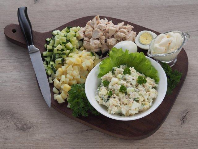 Оливье с курицей рецепт