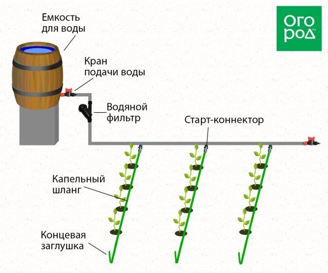 Капельный полив - схема 3