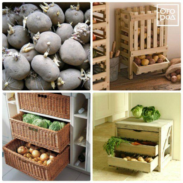 ящики для картофеля в доме