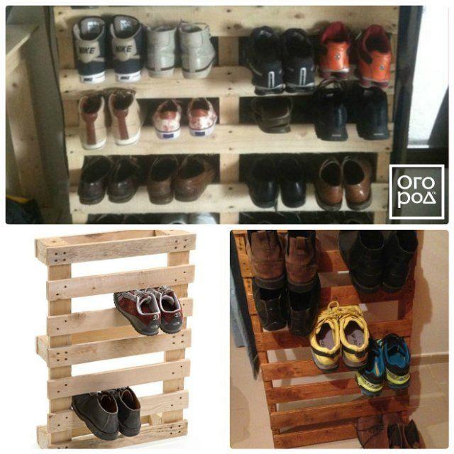 стеллаж для обуви из поддонов