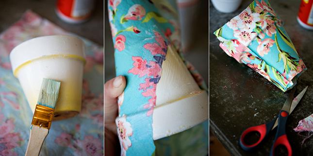 Процесс приклеивание ткани занимает всего три этапа