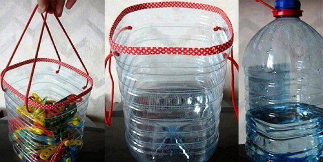 емкость для игрушек из пластиковой бутылки